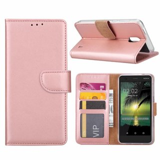 Bookcase Nokia 2 hoesje - Rosé Goud