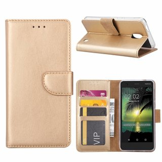 Bookcase Nokia 2 hoesje - Goud