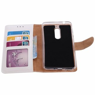 Bookcase Nokia 5 hoesje - Wit