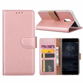 Bookcase Nokia 6 hoesje - Rosé Goud