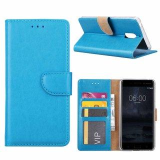 Bookcase Nokia 6 hoesje - Blauw