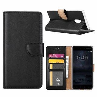 Bookcase Nokia 6 hoesje - Zwart