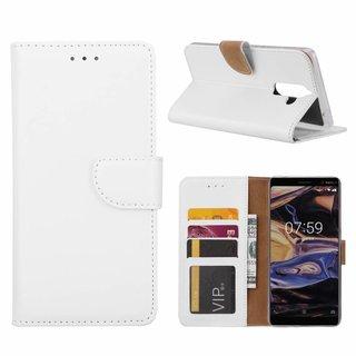 Bookcase Nokia 7 Plus hoesje - Wit