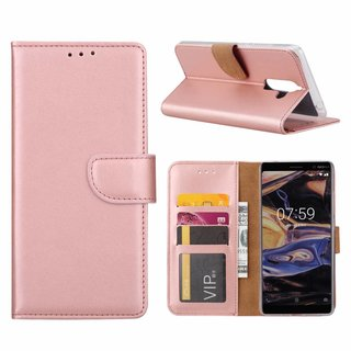 Bookcase Nokia 7 Plus hoesje - Rosé Goud