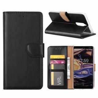 Bookcase Nokia 7 Plus hoesje - Zwart