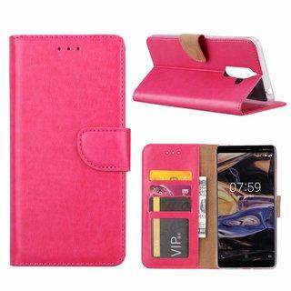 Bookcase Nokia 7 Plus hoesje - Roze