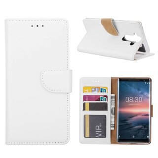 Bookcase Nokia 8 Sirocco hoesje - Wit