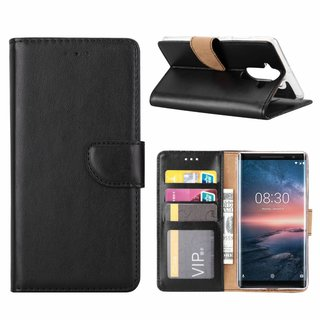 Bookcase Nokia 8 Sirocco hoesje - Zwart