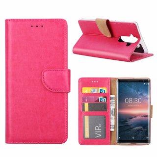 Bookcase Nokia 8 Sirocco hoesje - Roze