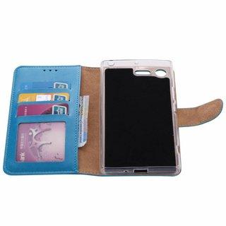 Bookcase Sony Xperia XZ Premium hoesje - Blauw