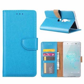 Bookcase Sony Xperia XZ2 Premium hoesje - Blauw
