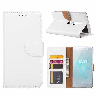Bookcase Sony Xperia XZ2 Premium hoesje - Wit