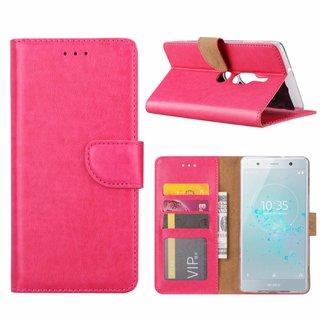 Bookcase Sony Xperia XZ2 Premium hoesje - Roze