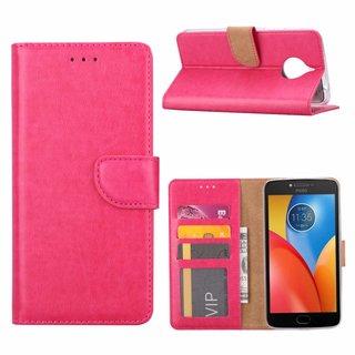 Bookcase Motorola Moto E4 Plus hoesje - Roze