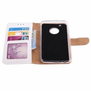 Bookcase Motorola Moto G5 Plus hoesje - Wit