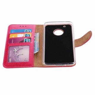 Bookcase Motorola Moto G5 Plus hoesje - Roze