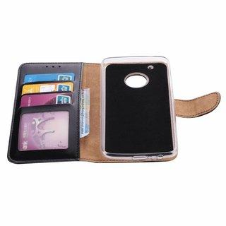 Bookcase Motorola Moto G5 Plus hoesje - Zwart