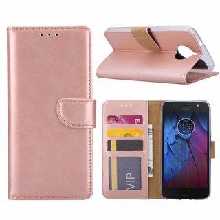 Bookcase Motorola Moto G5S hoesje - Rosé Goud