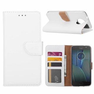 Bookcase Motorola Moto G5S Plus hoesje - Wit