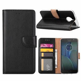 Bookcase Motorola Moto G5S Plus hoesje - Zwart