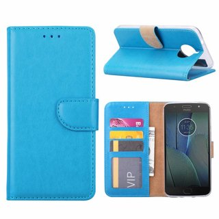 Bookcase Motorola Moto G5S Plus hoesje - Blauw