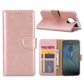 Bookcase Motorola Moto G5S Plus hoesje - Rosé Goud
