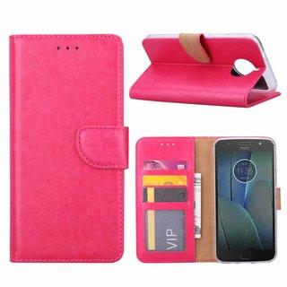Bookcase Motorola Moto G5S Plus hoesje - Roze