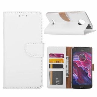Bookcase Motorola Moto X4 hoesje - Wit