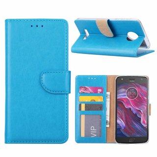 Bookcase Motorola Moto X4 hoesje - Blauw