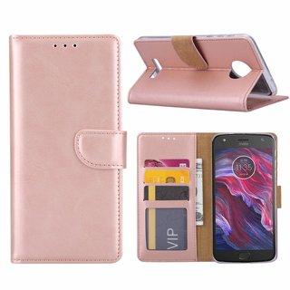 Bookcase Motorola Moto X4 hoesje - Rosé Goud