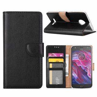 Bookcase Motorola Moto X4 hoesje - Zwart