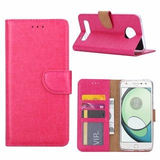 Bookcase Motorola Moto Z2 Play hoesje - Roze