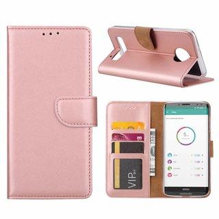 Bookcase Motorola Moto Z3 Play hoesje - Rosé Goud