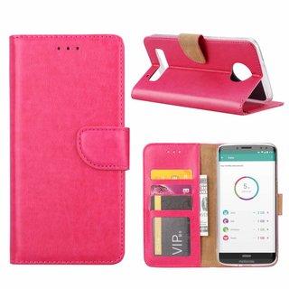 Bookcase Motorola Moto Z3 Play hoesje - Roze