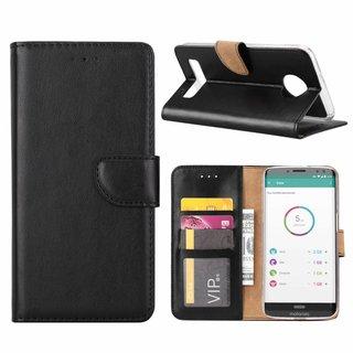 Bookcase Motorola Moto Z3 Play hoesje - Zwart