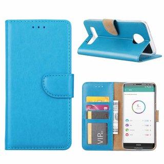 Bookcase Motorola Moto Z3 Play hoesje - Blauw