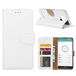 Bookcase Motorola Moto Z3 Play hoesje - Wit
