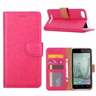 Bookcase Wiko Lenny3 hoesje - Roze