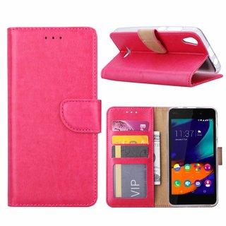 Bookcase Wiko Lenny4 hoesje - Roze