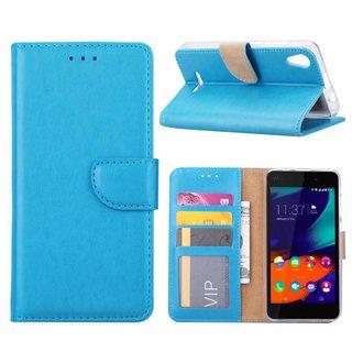 Bookcase Wiko Lenny4 hoesje - Blauw