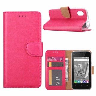 Bookcase Wiko Sunny Max hoesje  - Roze