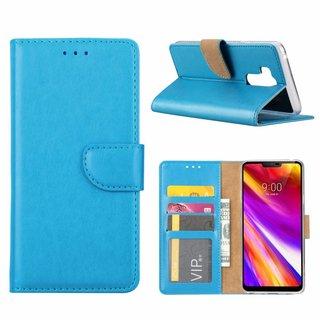 Luxe Lederen Bookcase hoesje voor de LG G7 ThinQ - Blauw