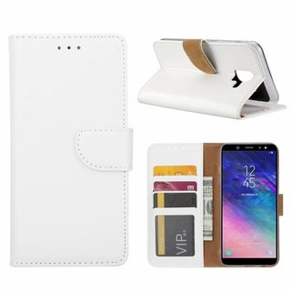 Bookcase Samsung Galaxy A6 2018 hoesje - Wit