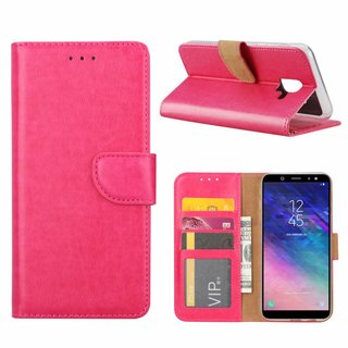 Bookcase Samsung Galaxy A6 2018 hoesje - Roze