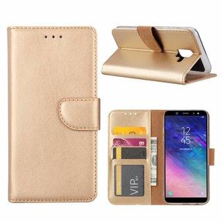 Bookcase Samsung Galaxy A6 2018 hoesje - Goud