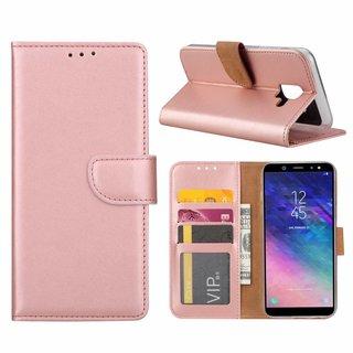 Bookcase Samsung Galaxy A6 2018 hoesje - Rosé Goud