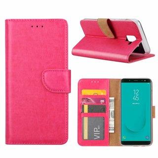 Bookcase Samsung Galaxy J6 2018 hoesje - Roze