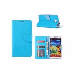 Luxe Lederen Bookcase hoesje voor de Samsung Galaxy Note 3 - Blauw