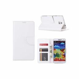 Luxe Lederen Bookcase hoesje voor de Samsung Galaxy Note 3 - Wit