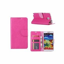 Luxe Lederen Bookcase hoesje voor de Samsung Galaxy Note 3 - Roze